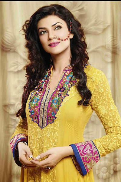 Yellow Ankle Length Anarkali Suit