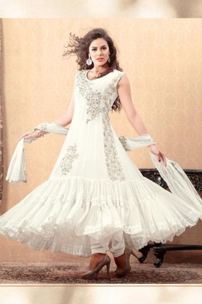 Off White Anarkali Suit