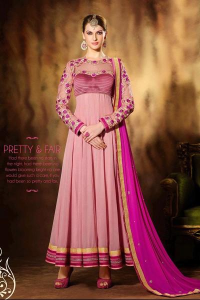 Light Pink Anarkali Suit
