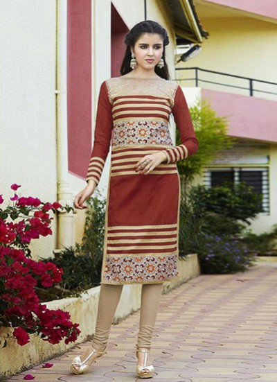 Multi Colour Kurti Embroidered