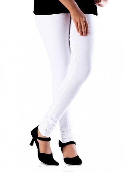 Readymade free size White Cotton Lycra Leggings