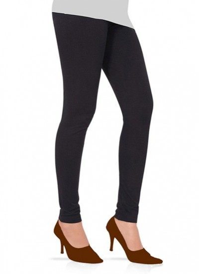 Readymade free size Black Cotton Lycra Leggings