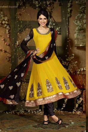 Yellow Anarkali Suit