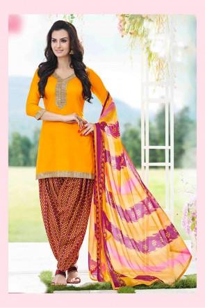 Yellow Patiala  Suit