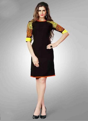 Black Kurti  Embroidered
