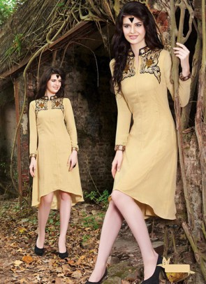Cream Kurti  Embroidered