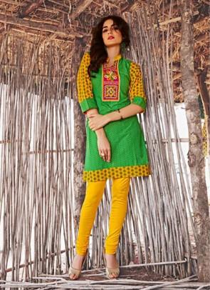 Green Kurti  Print