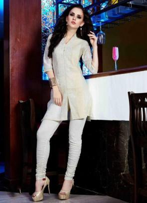 Cream Designer Kurti